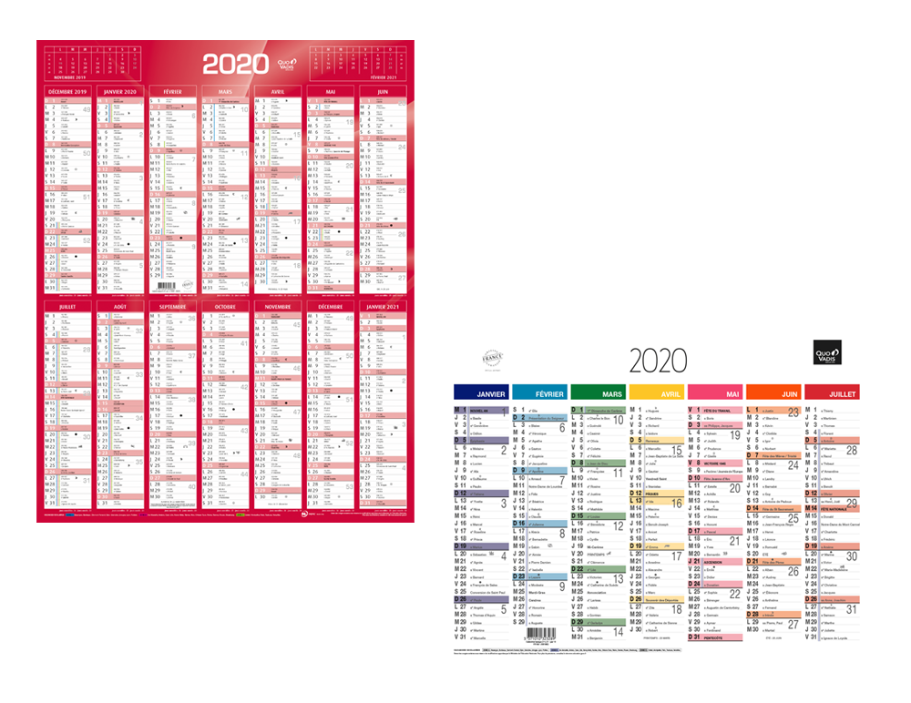 Grand Calendrier Mural Pour Planning.Calendriers Quo Vadis