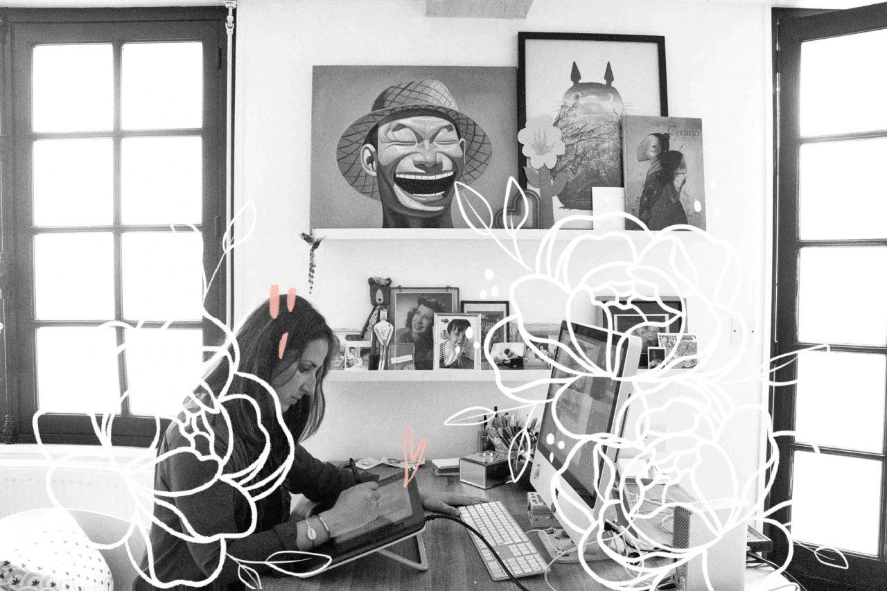 Magali Fournier dans son atelier