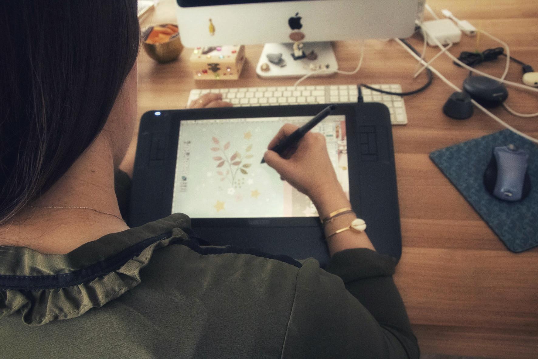 Magali Fournier illustratrice dessine