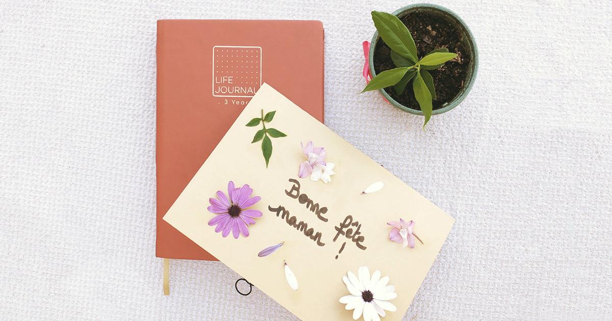 Article Quo Vadis - Carte florale DIY fleurs fête des mères
