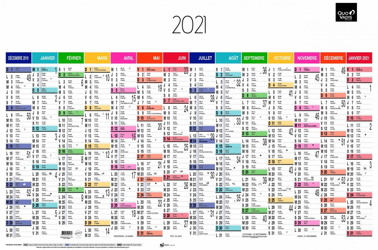 Calendrier Arc-en-ciel Quo Vadis 2021
