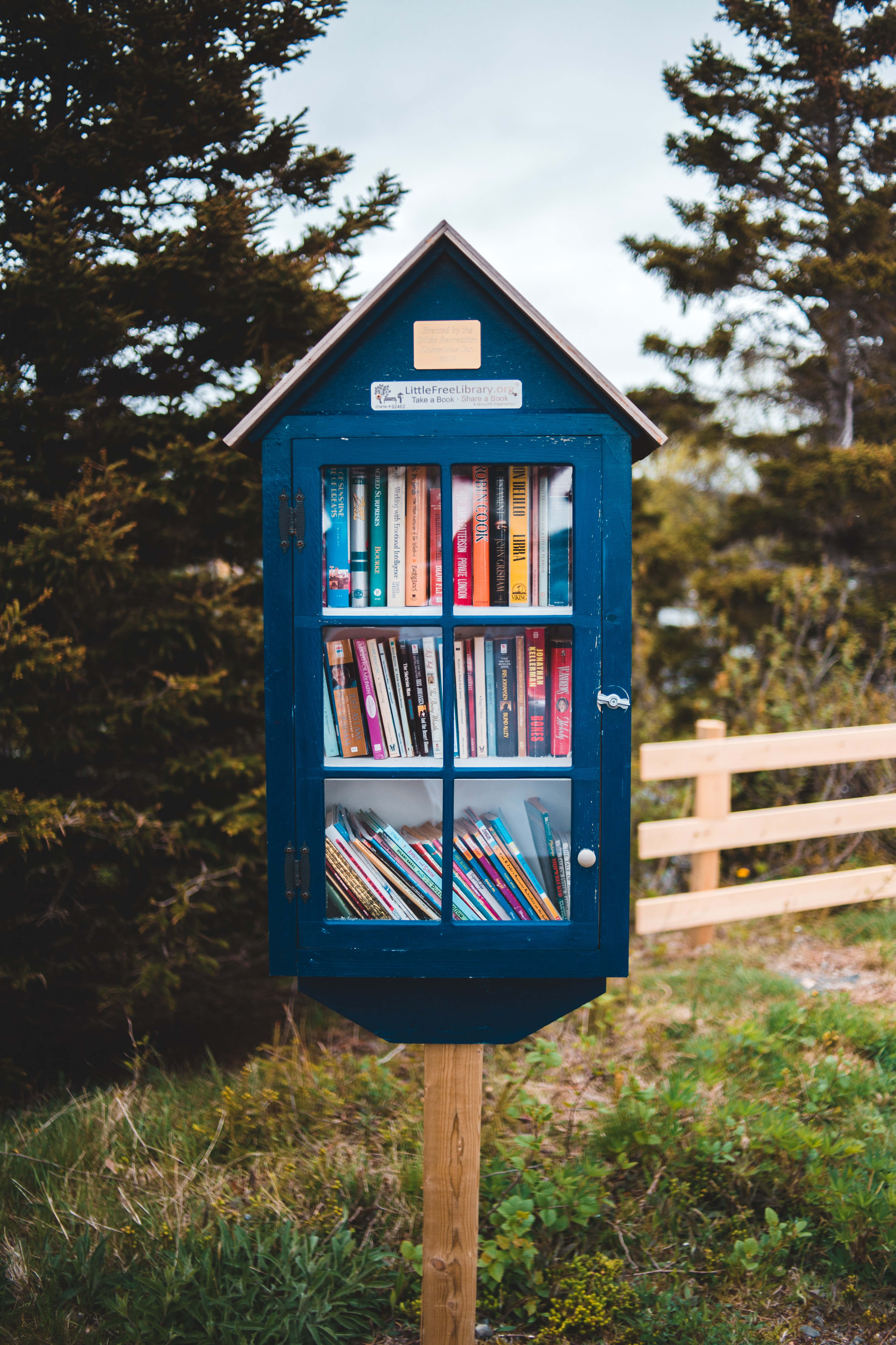 Article Quo Vadis recyclage boite à lire, livres, photo par Erik Mclean