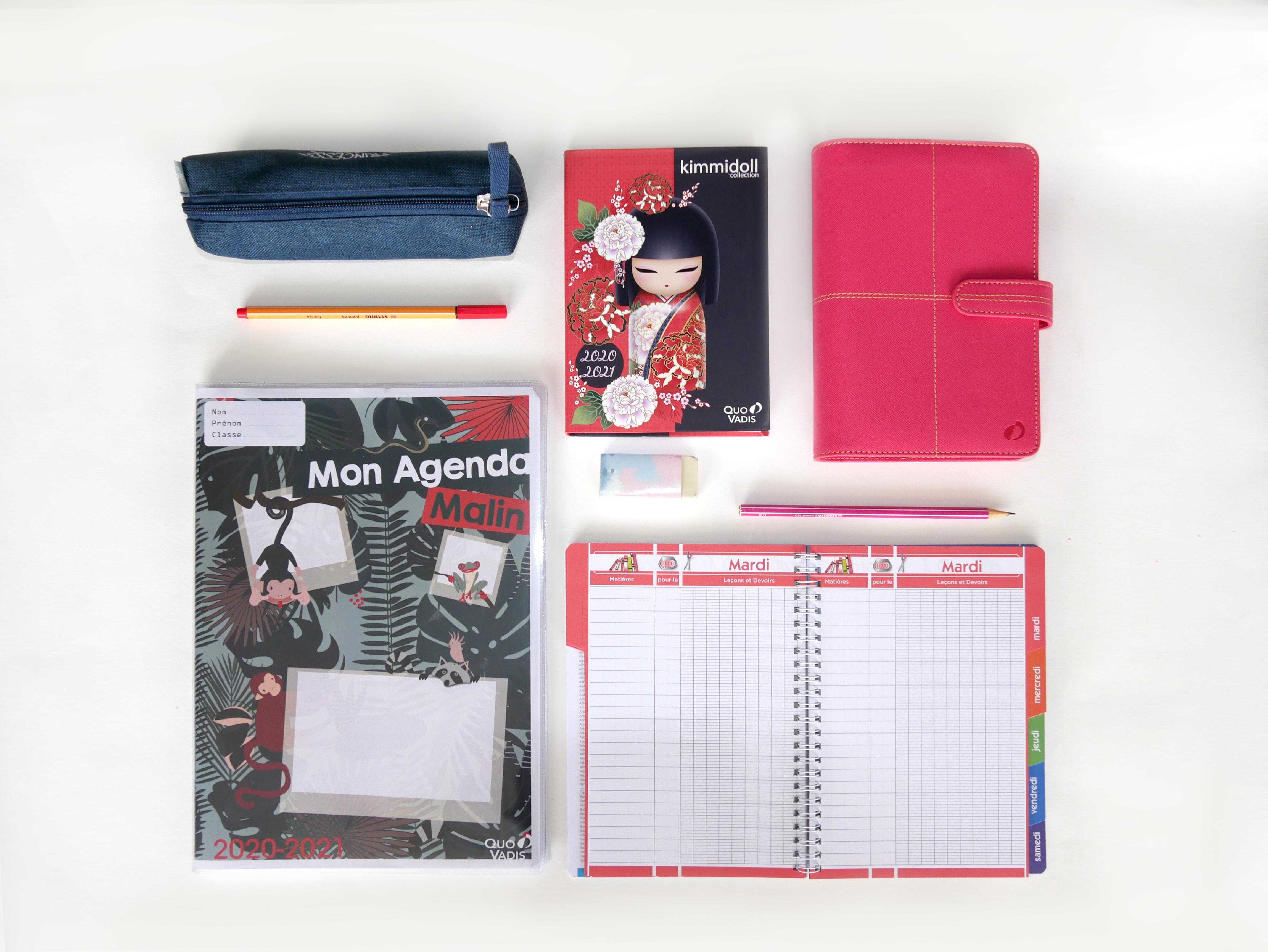 Cahier de texte, Mon Agenda Malin, agenda et timer/ organiseur Quo Vadis