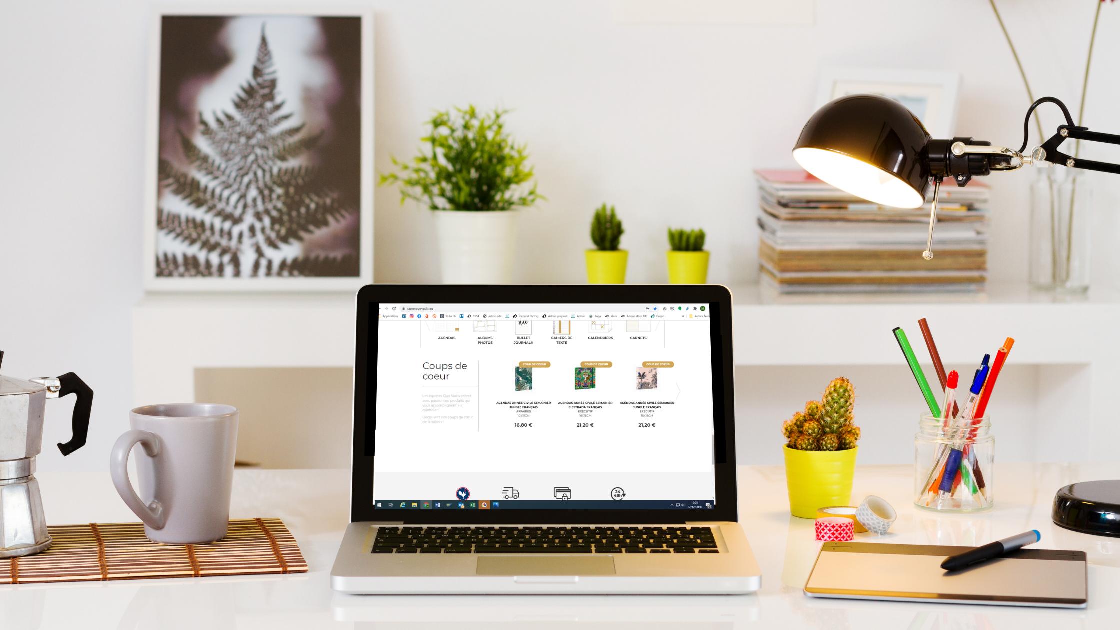 Boutique en ligne agendas et carnets Quo Vadis