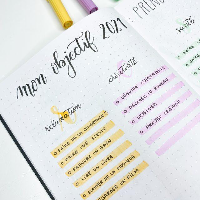 IMG_12Mes objectifs pour 2021 par Auly's Studio article Quo Vadis Bullet Journal