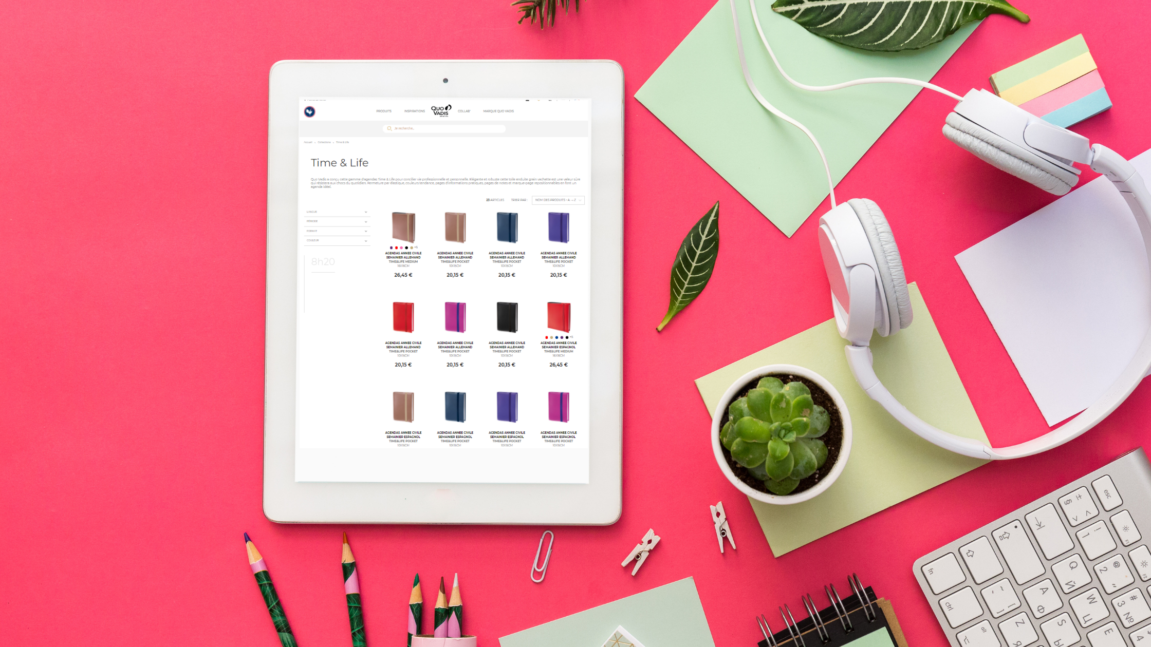 Produits Quo Vadis boutique en ligne sur tablette et mobile