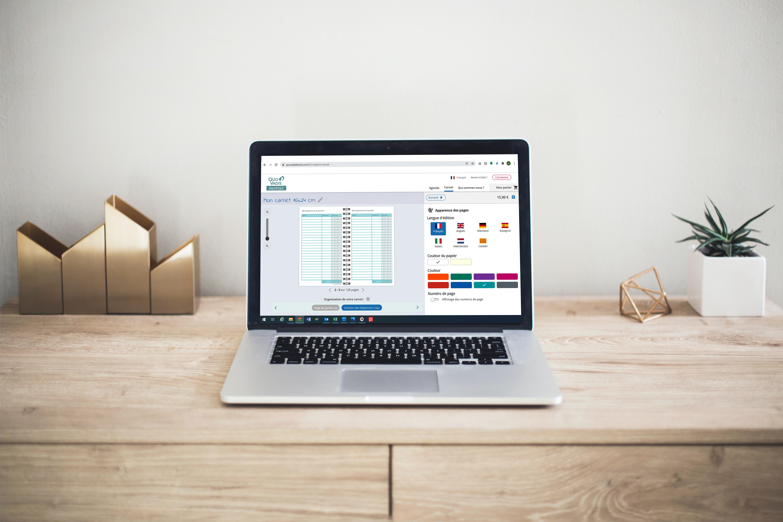 Article Quo Vadis Factory Carnet de comptes personnalisation en ligne