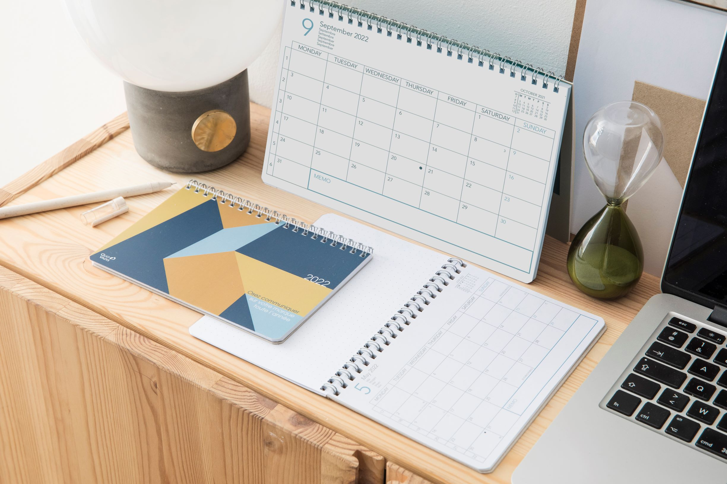 Agenda calendrier Quo Vadis pour les entreprises